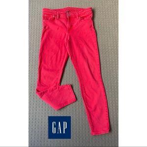 Gap Dark Pink Mid Rise Skinny Ankle Jeans AU10